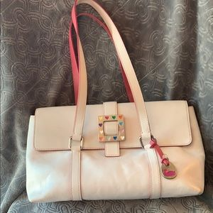 Dooney & Bourke Square Hearts Satchel Buckle Purse